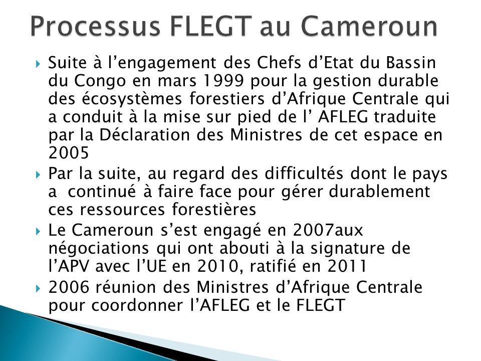 Suite à lengagement des Chefs dEtat du Bassin du Congo en mars 1999 pour la gestion durable des écosystèmes forestiers dAfrique Centrale qui a conduit