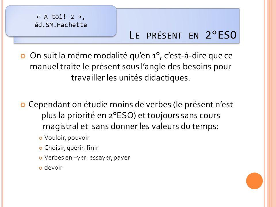 Des exercices déductifs avec un dialogue et des exercices dont la consigne est de compléter les terminaisons des verbes (celles-ci se trouvent dans le dialogue).