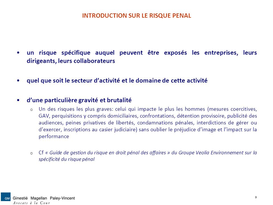 II.LES MODES DE PREVENTION DU RISQUE PENAL 2.