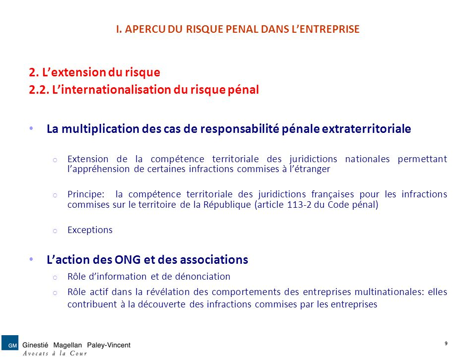II.LES MODES DE PREVENTION DU RISQUE PENAL 3.