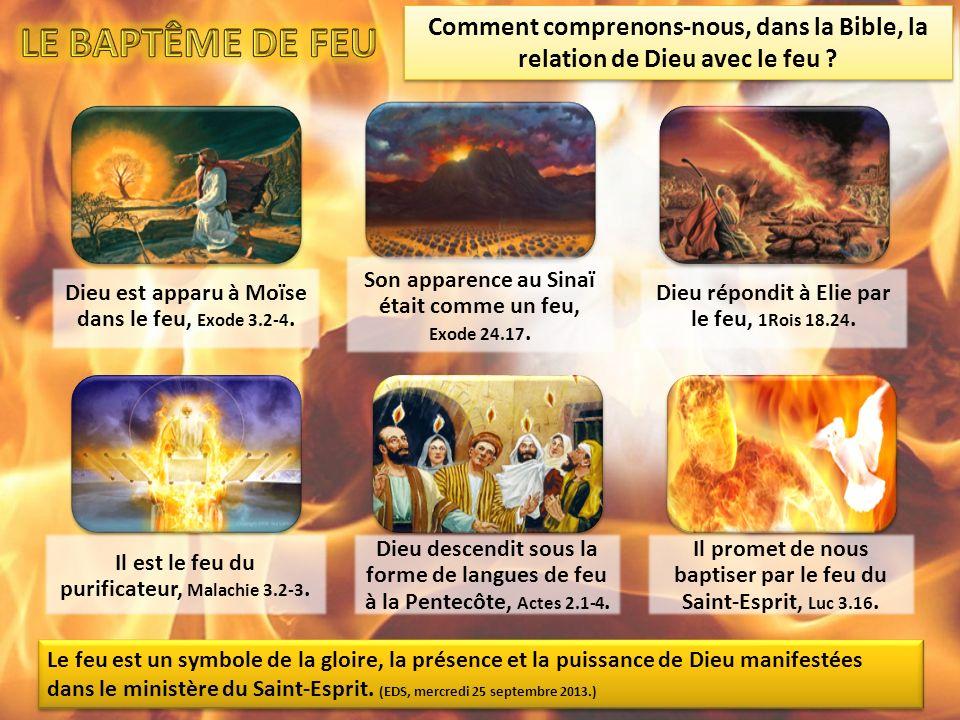 Dieu est apparu à Moïse dans le feu, Exode 3.2-4.