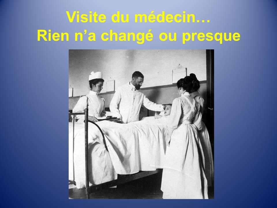 Visite du médecin… Rien na changé ou presque