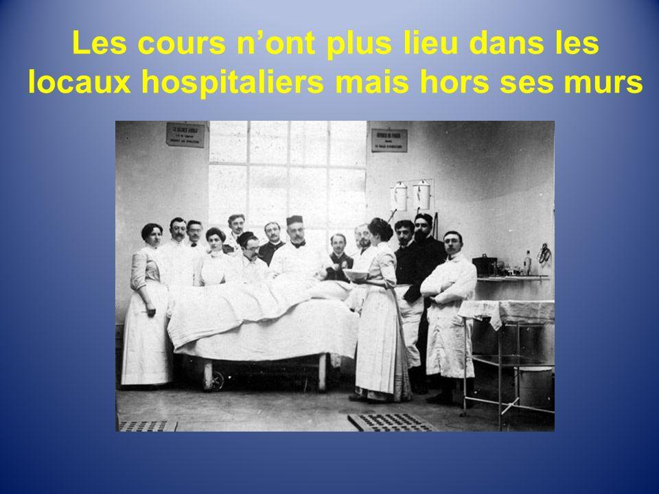 Les cours nont plus lieu dans les locaux hospitaliers mais hors ses murs