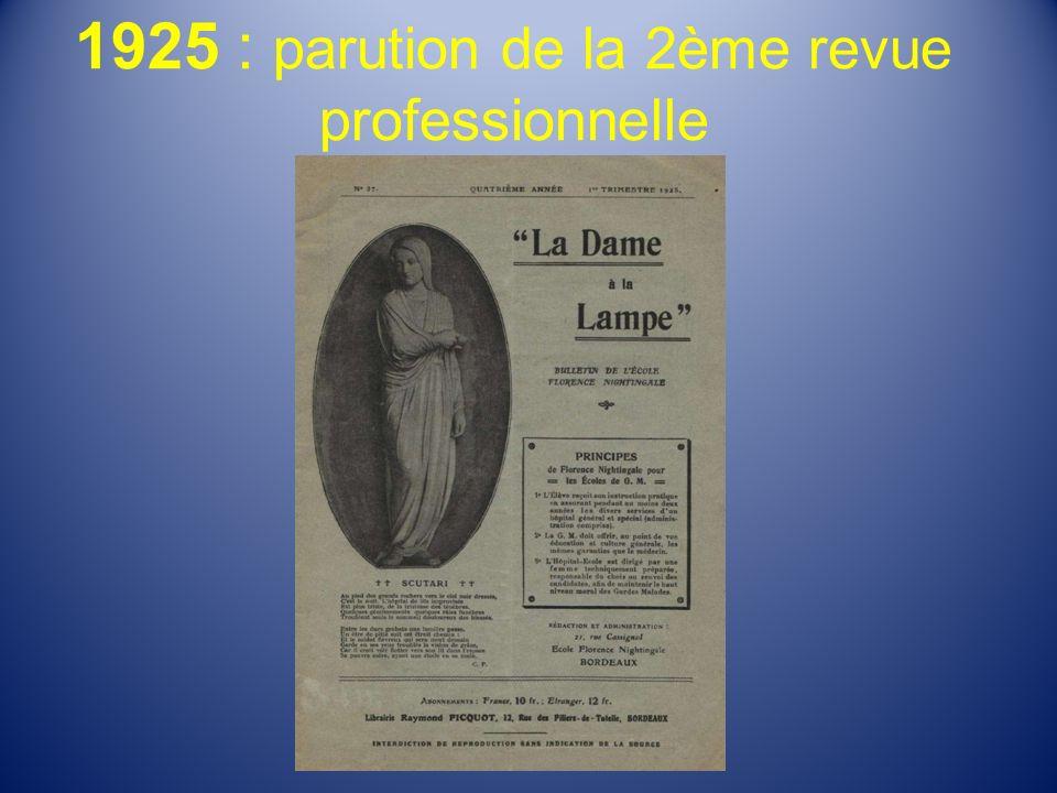 1925 : parution de la 2ème revue professionnelle