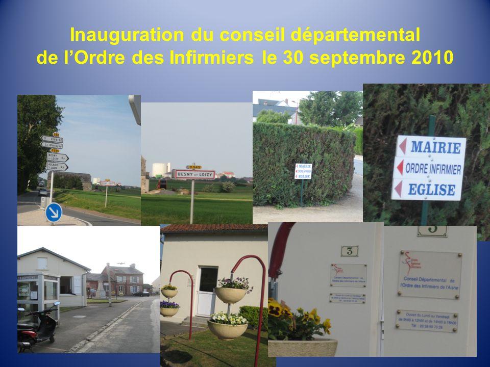 Inauguration du conseil départemental de lOrdre des Infirmiers le 30 septembre 2010