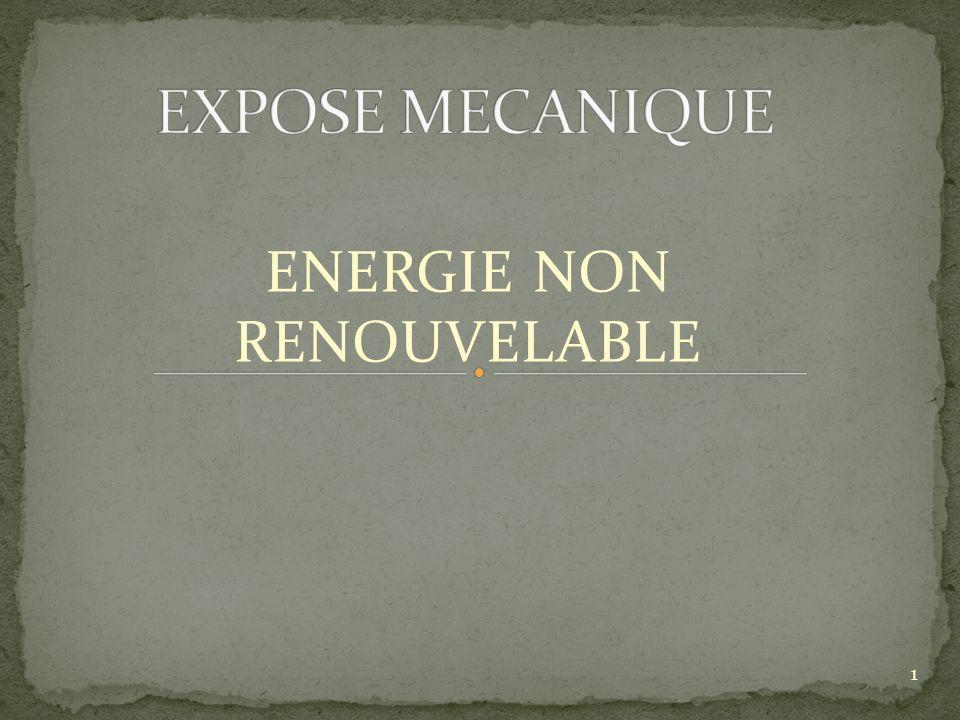 ENERGIE NON RENOUVELABLE 1