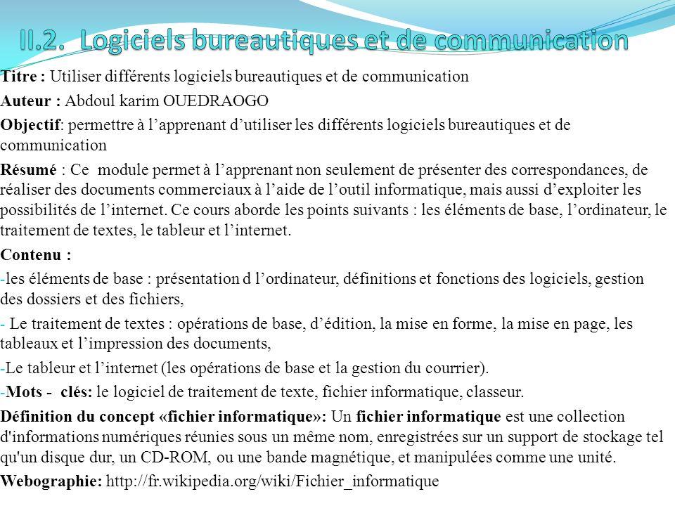 Titre : Appliquer des notions déconomie générale Auteur : Abdou TARPILGA Objectif: développer des compétences à travers linitiation à lanalyse de lenv