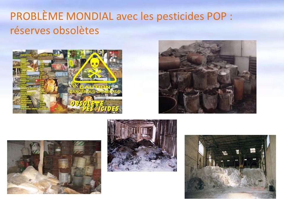 10 PROBLÈME MONDIAL avec les pesticides POP : réserves obsolètes