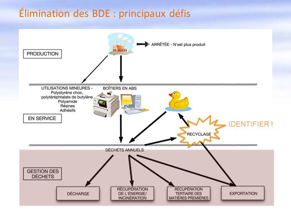Élimination des BDE : principaux défis IDENTIFIER !
