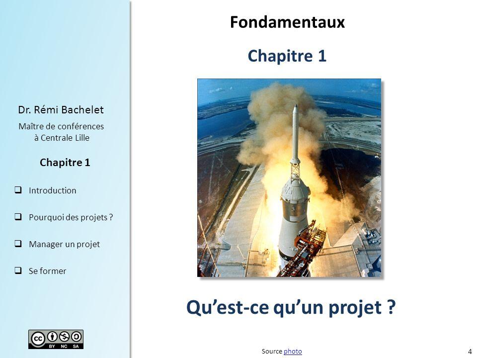 4 Dr.Rémi Bachelet Maître de conférences à Centrale Lille Introduction Pourquoi des projets .
