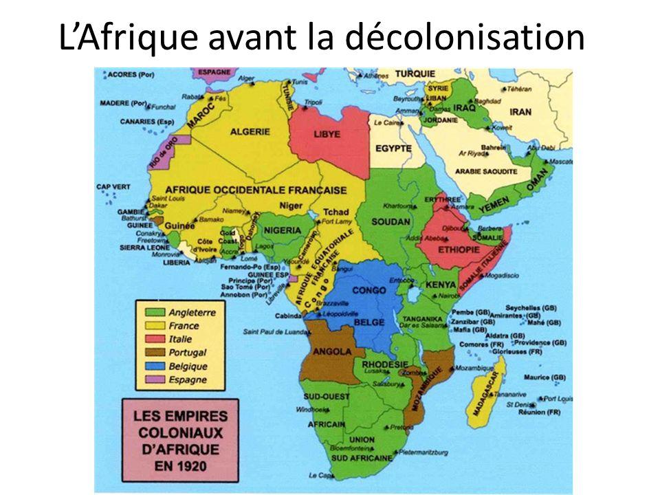 LAfrique avant la décolonisation