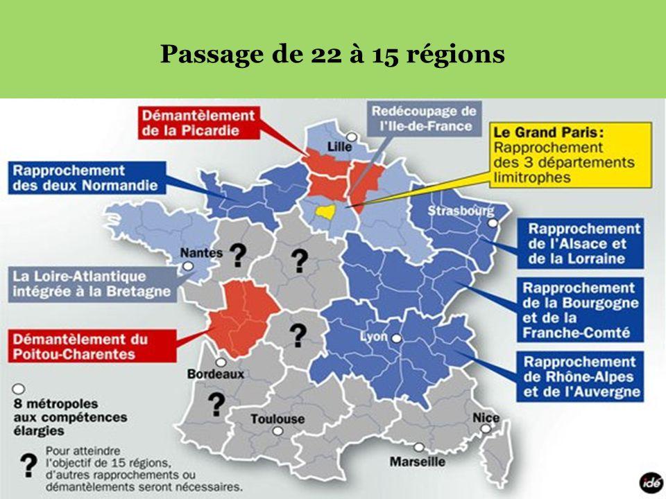 Passage de 22 à 15 régions