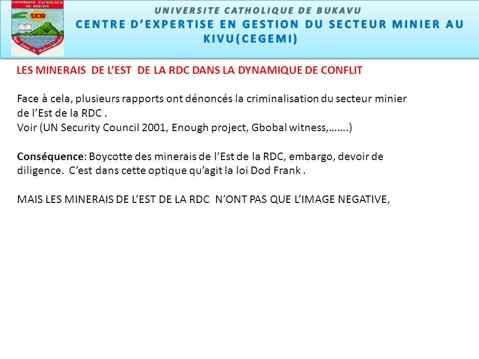 Face à cela, plusieurs rapports ont dénoncés la criminalisation du secteur minier de lEst de la RDC.