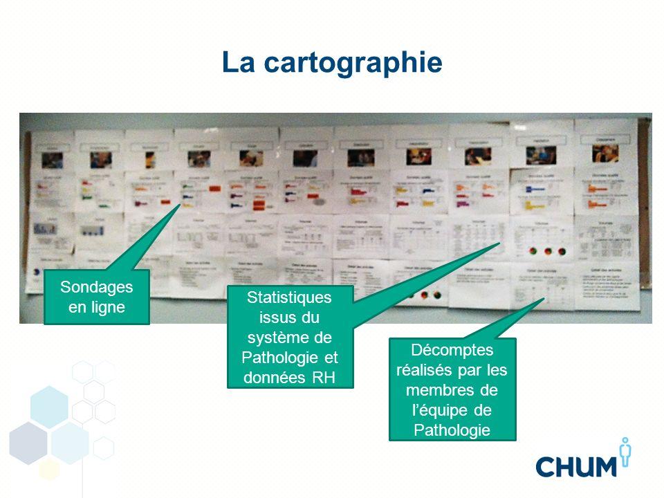 La cartographie Sondages en ligne Statistiques issus du système de Pathologie et données RH Décomptes réalisés par les membres de léquipe de Pathologi