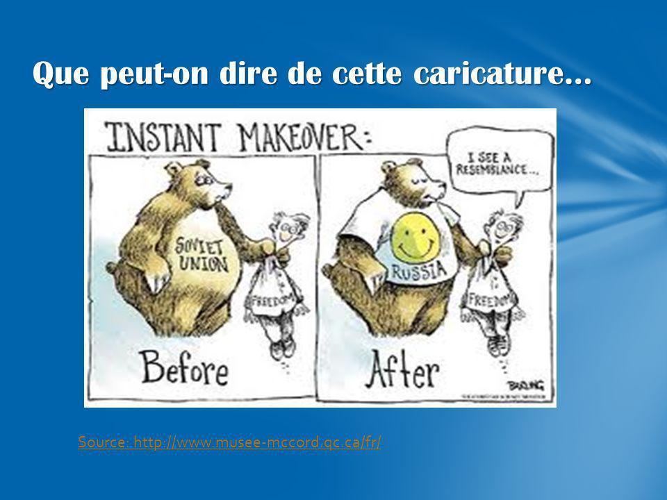 Que peut-on dire de cette caricature… Source: http://www.musee-mccord.qc.ca/fr/