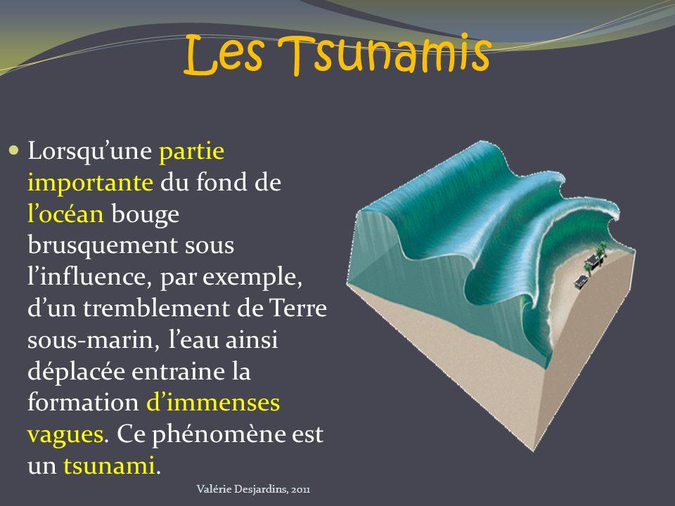 Les Tsunamis Lorsquune partie importante du fond de locéan bouge brusquement sous linfluence, par exemple, dun tremblement de Terre sous-marin, leau a