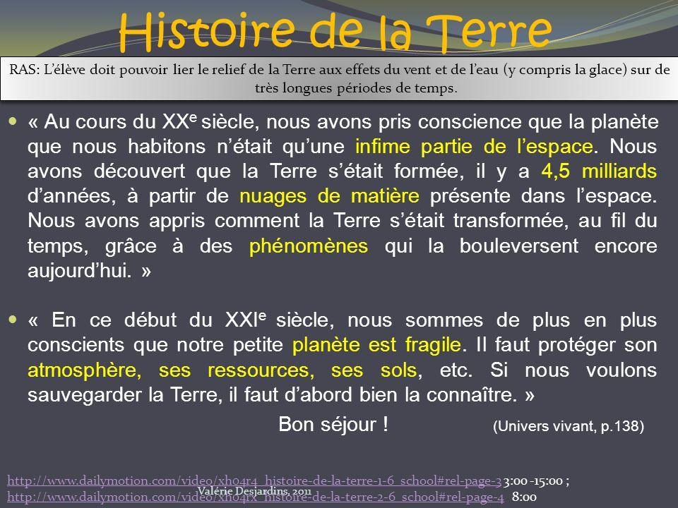 La roche sédimentaire http://www.youtube.com/watch?v=IcjcjvixPho&feature=related Valérie Desjardins, 2011