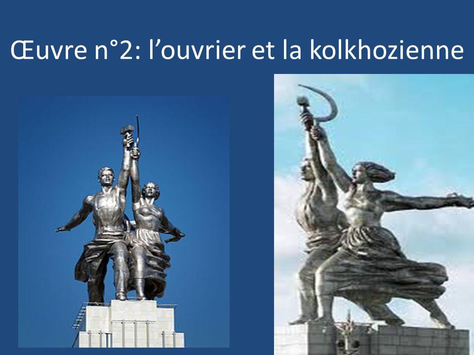Œuvre n°2: louvrier et la kolkhozienne