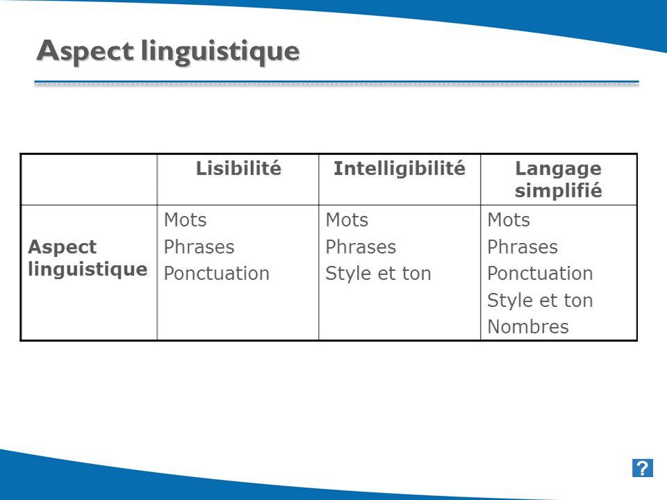 32 Aspect linguistique