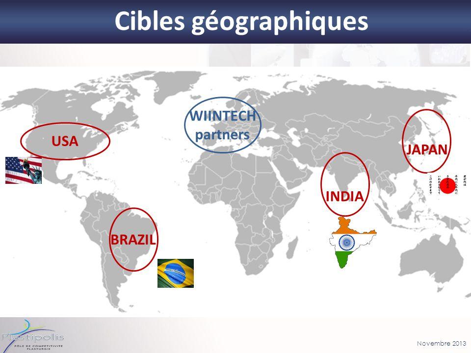 Novembre 2013 Cibles géographiques 16 USA BRAZIL INDIA JAPAN WIINTECH partners