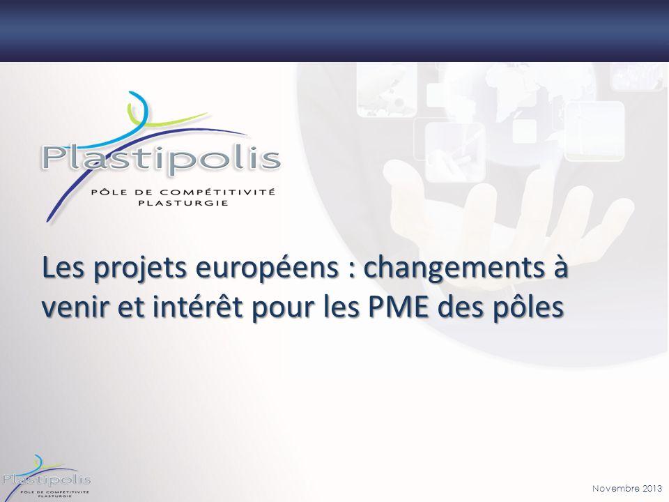 Novembre 2013 Les projets européens : changements à venir et intérêt pour les PME des pôles
