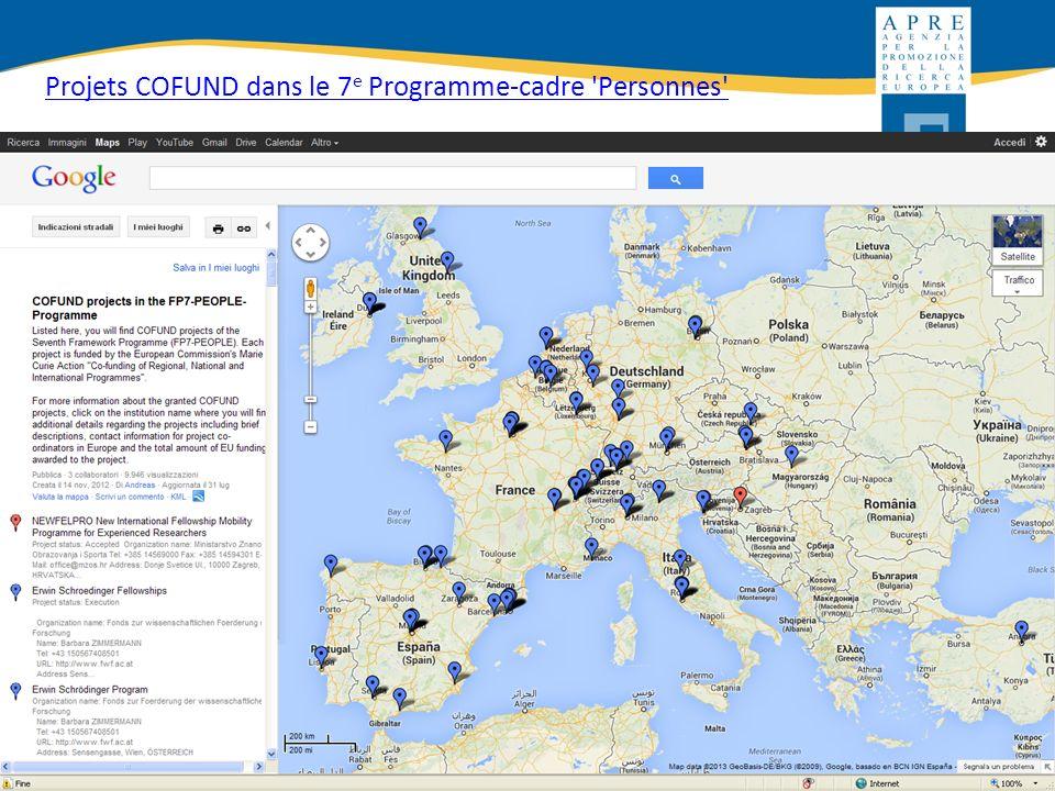 http://ec.europa.eu/euraxess/ Projets COFUND dans le 7 e Programme-cadre 'Personnes'