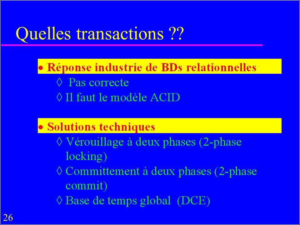 26 Quelles transactions