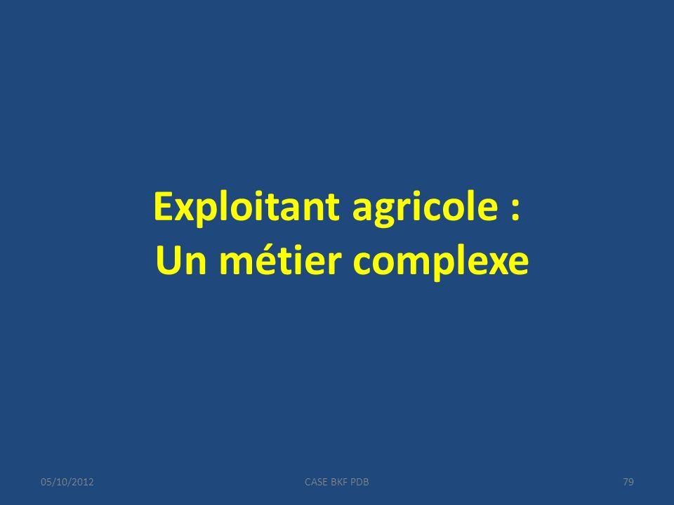 05/10/2012CASE BKF PDB79 Exploitant agricole : Un métier complexe
