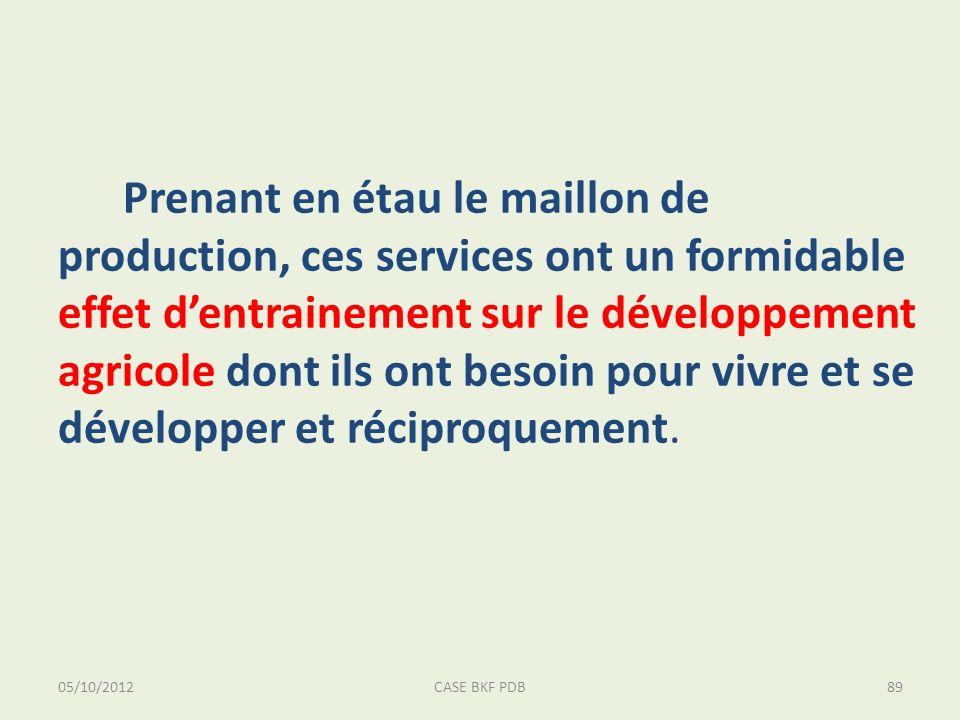 05/10/2012CASE BKF PDB89 Prenant en étau le maillon de production, ces services ont un formidable effet dentrainement sur le développement agricole do