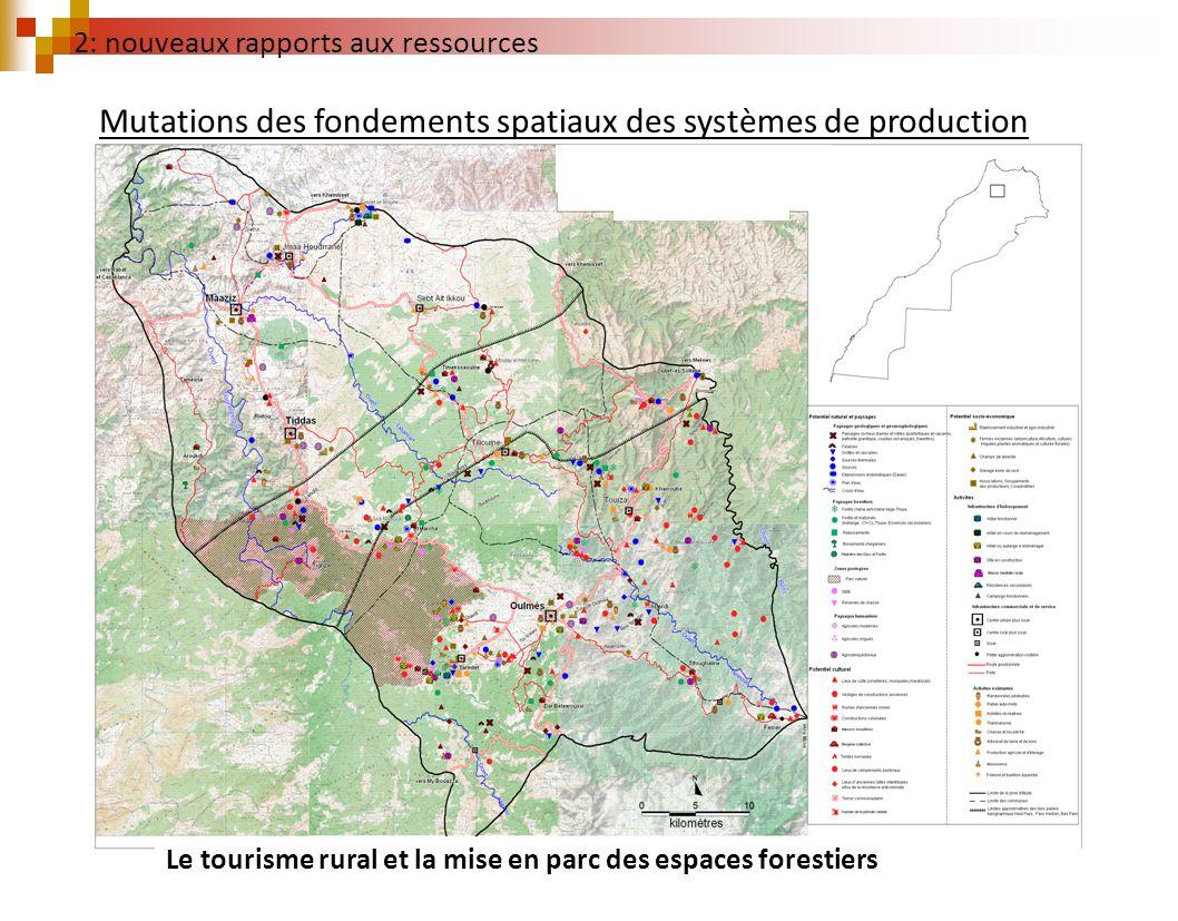 2: nouveaux rapports aux ressources Le tourisme rural et la mise en parc des espaces forestiers Mutations des fondements spatiaux des systèmes de prod