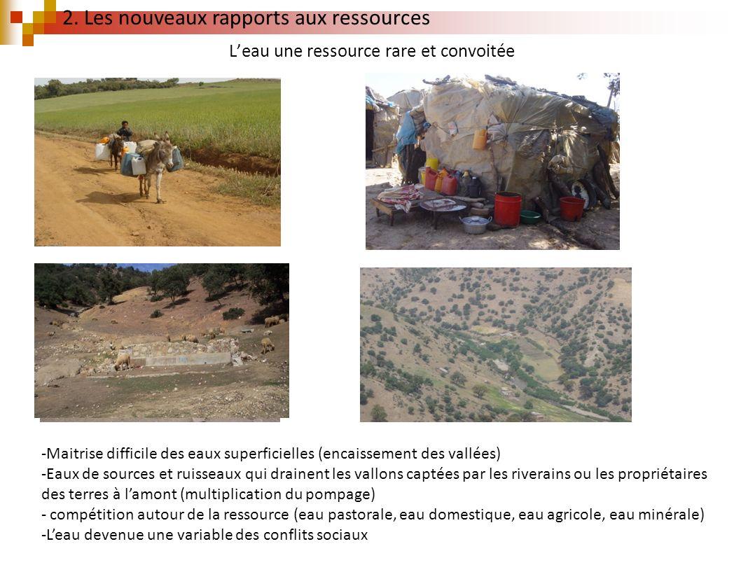 Leau une ressource rare et convoitée -Maitrise difficile des eaux superficielles (encaissement des vallées) -Eaux de sources et ruisseaux qui drainent