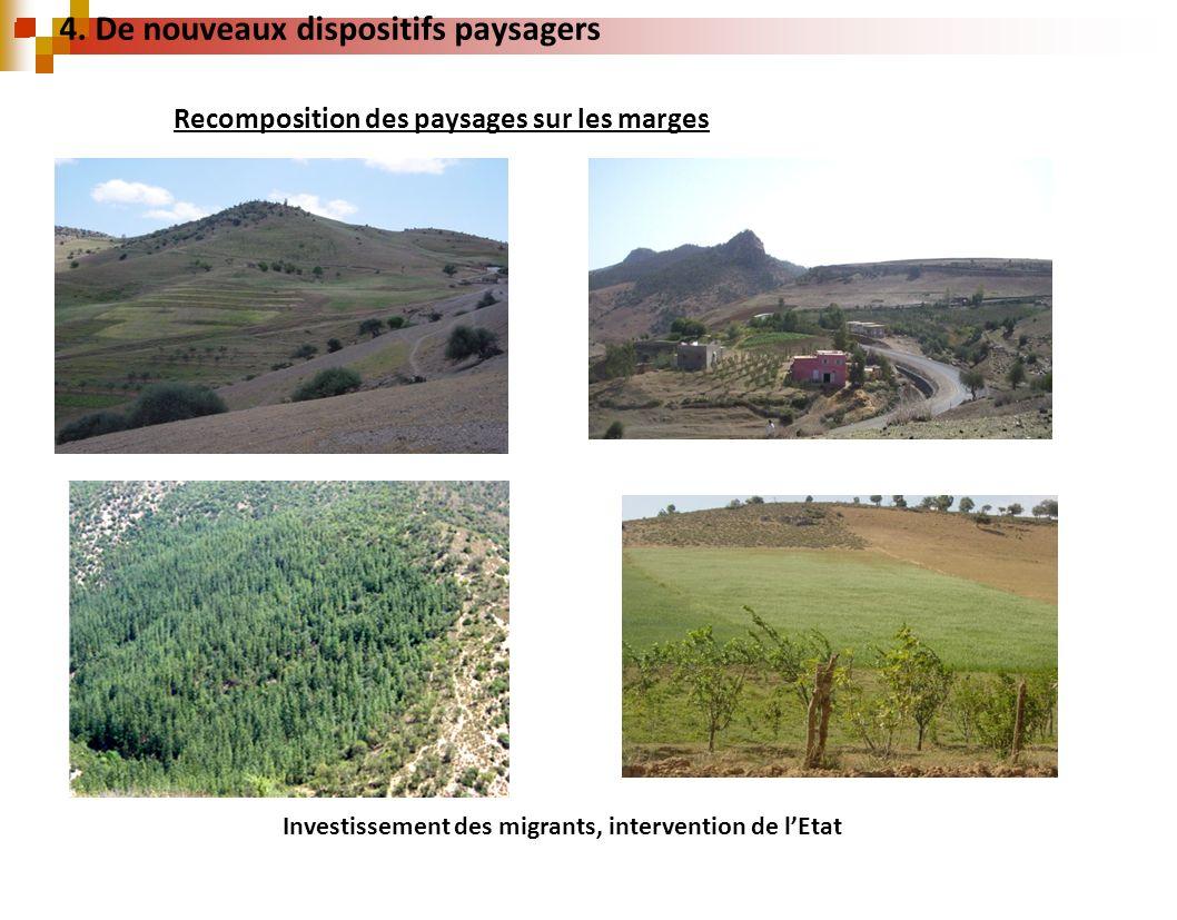 Recomposition des paysages sur les marges Investissement des migrants, intervention de lEtat