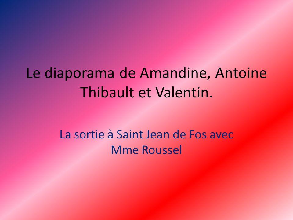 Le diaporama de Amandine, Antoine Thibault et Valentin. La sortie à Saint Jean de Fos avec Mme Roussel