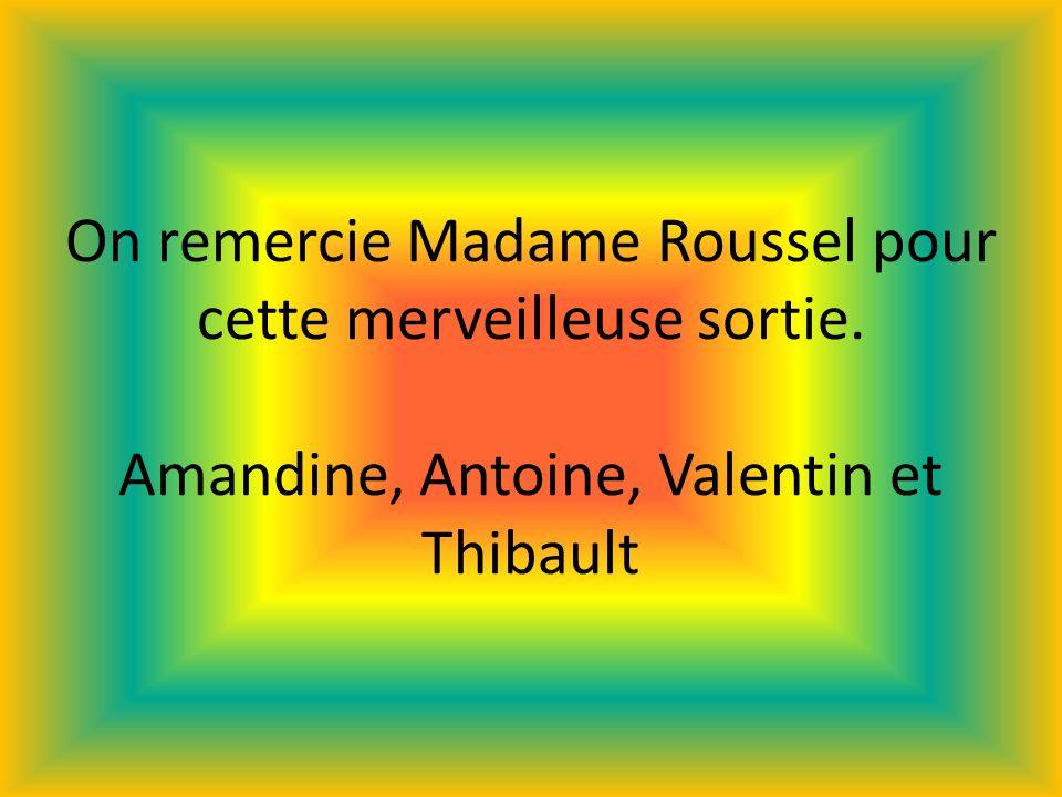 On remercie Madame Roussel pour cette merveilleuse sortie. Amandine, Antoine, Valentin et Thibault