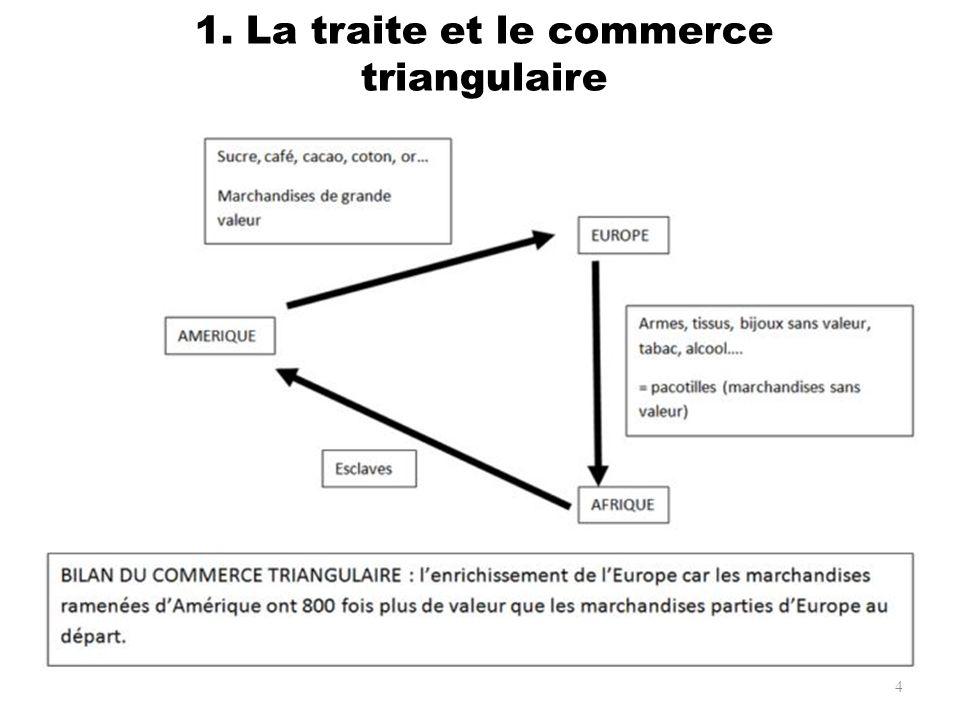 1. La traite et le commerce triangulaire 4