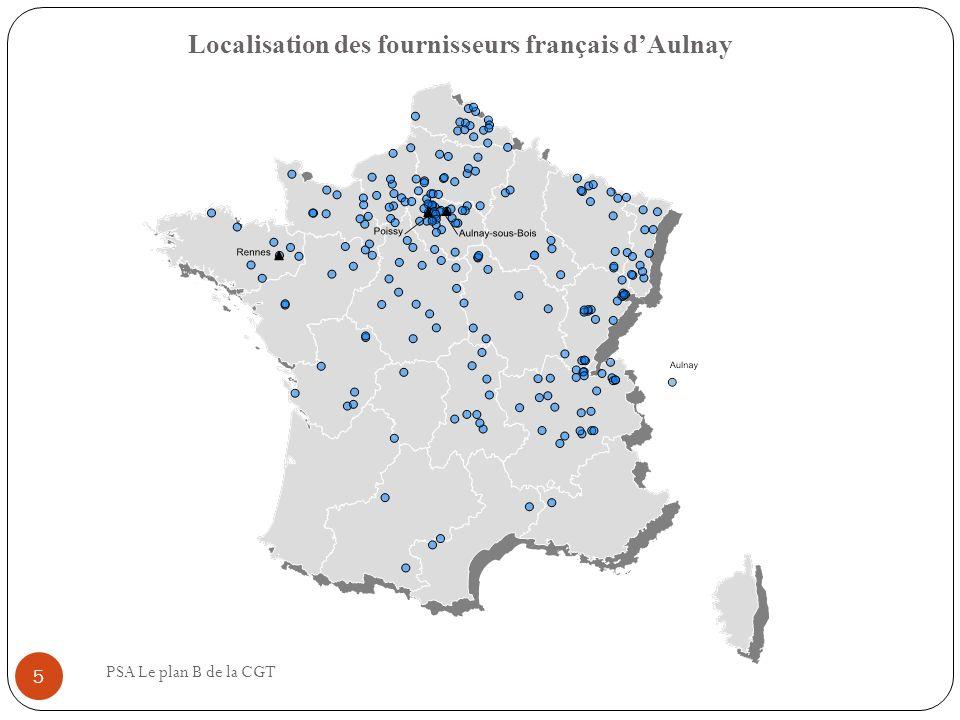 Localisation des fournisseurs français de Rennes PSA Le plan B de la CGT 6