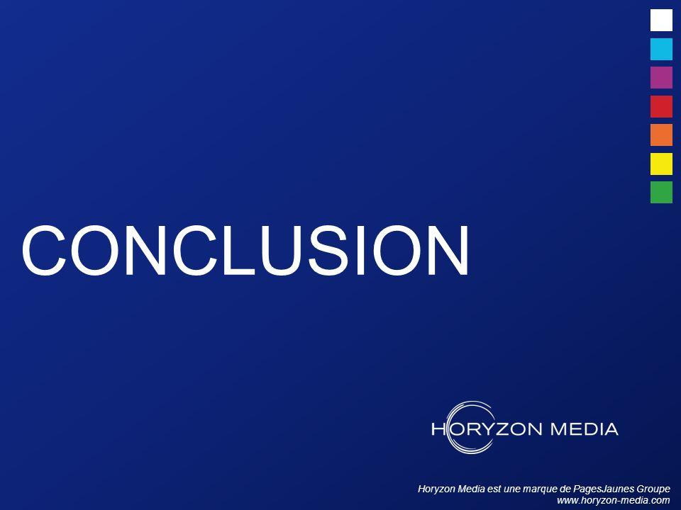 Horyzon Media est une marque de PagesJaunes Groupe www.horyzon-media.com CONCLUSION