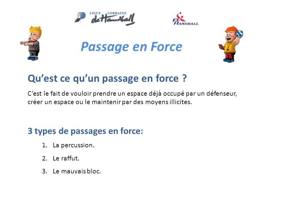 Passage en Force Quest ce quun passage en force .