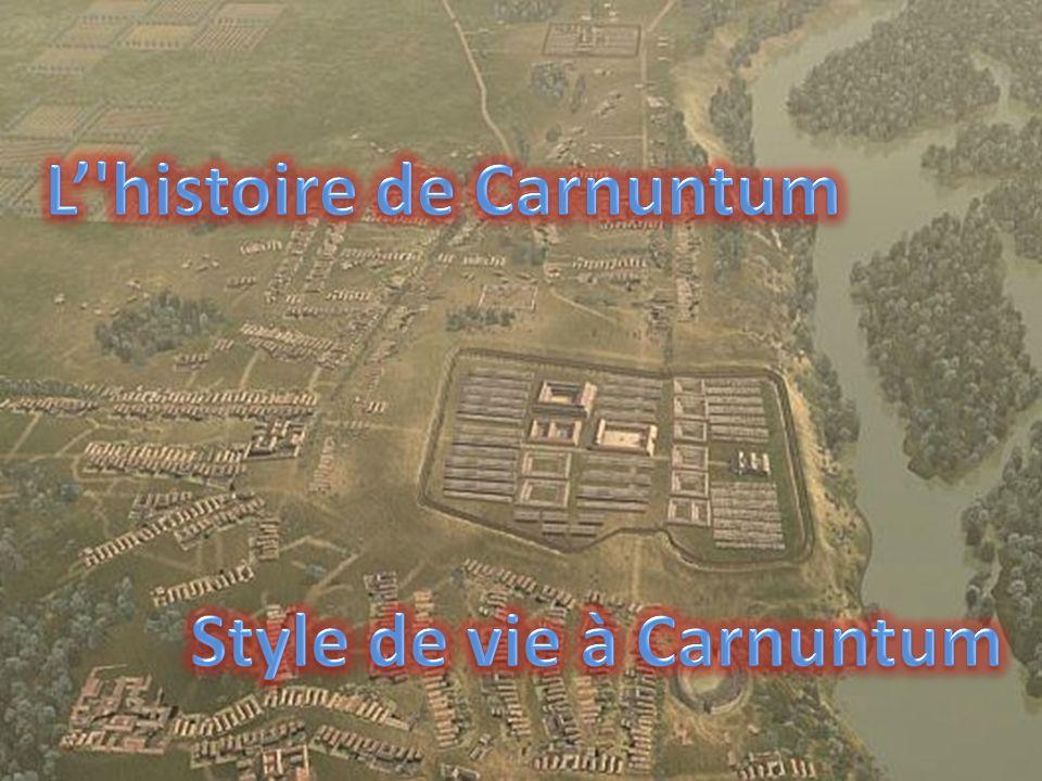 POSIZIONE GEOGRAFICA Carnunto était une forteresse importante de la légion romaine située dans la province du Norico, sur les rivages du Danube.