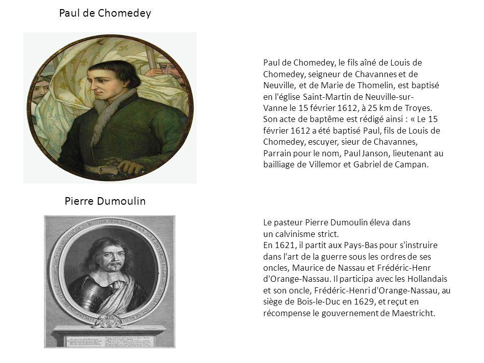 Paul de Chomedey, le fils aîné de Louis de Chomedey, seigneur de Chavannes et de Neuville, et de Marie de Thomelin, est baptisé en l'église Saint-Mart
