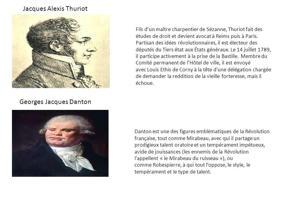 Danton est une des figures emblématiques de la Révolution française, tout comme Mirabeau, avec qui il partage un prodigieux talent oratoire et un temp