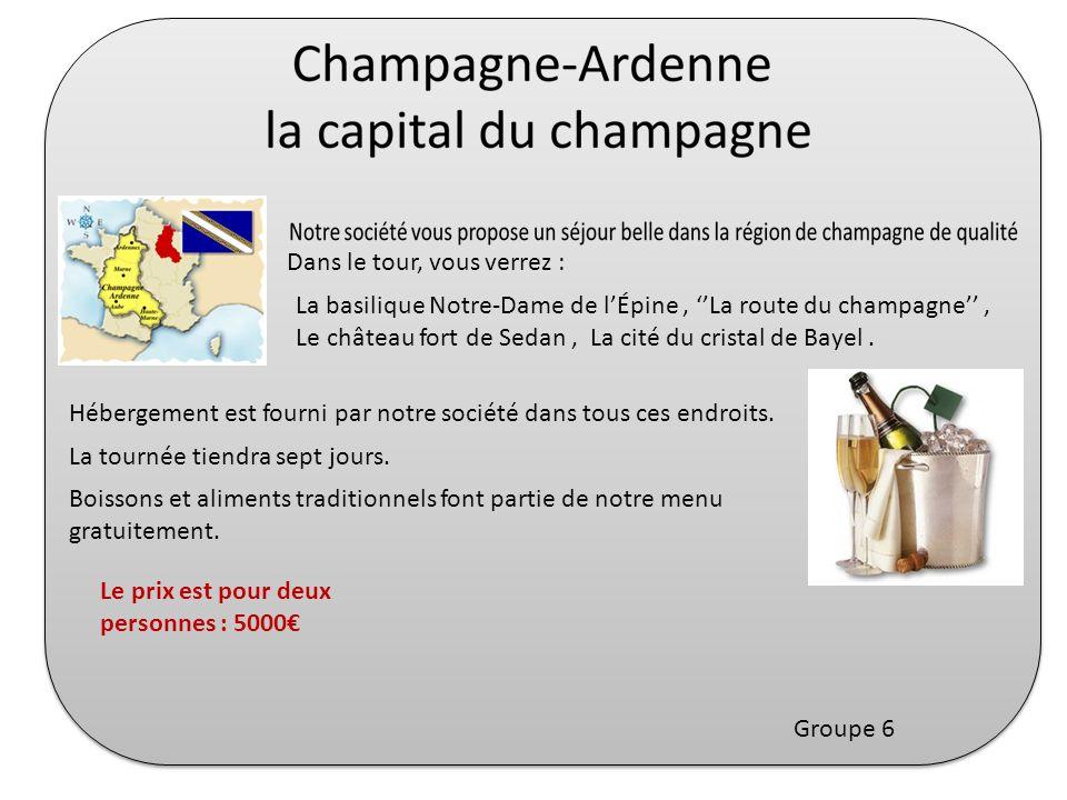 Dans le tour, vous verrez : La basilique Notre-Dame de lÉpine, La route du champagne, Le château fort de Sedan, La cité du cristal de Bayel. Hébergeme