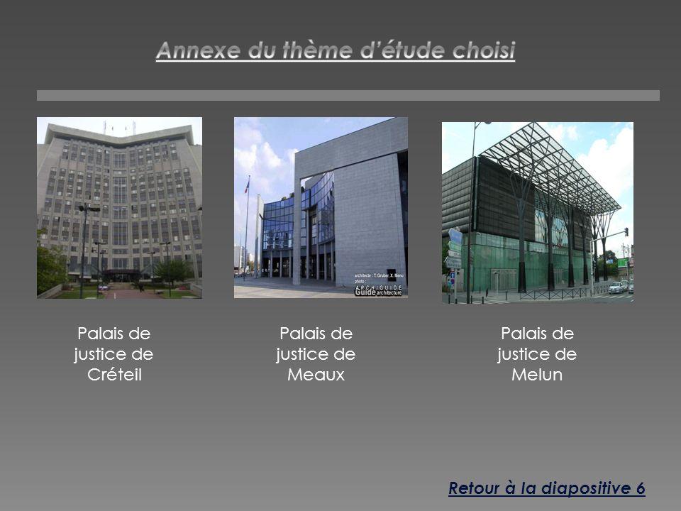 Palais de justice de Créteil Palais de justice de Meaux Palais de justice de Melun Retour à la diapositive 6
