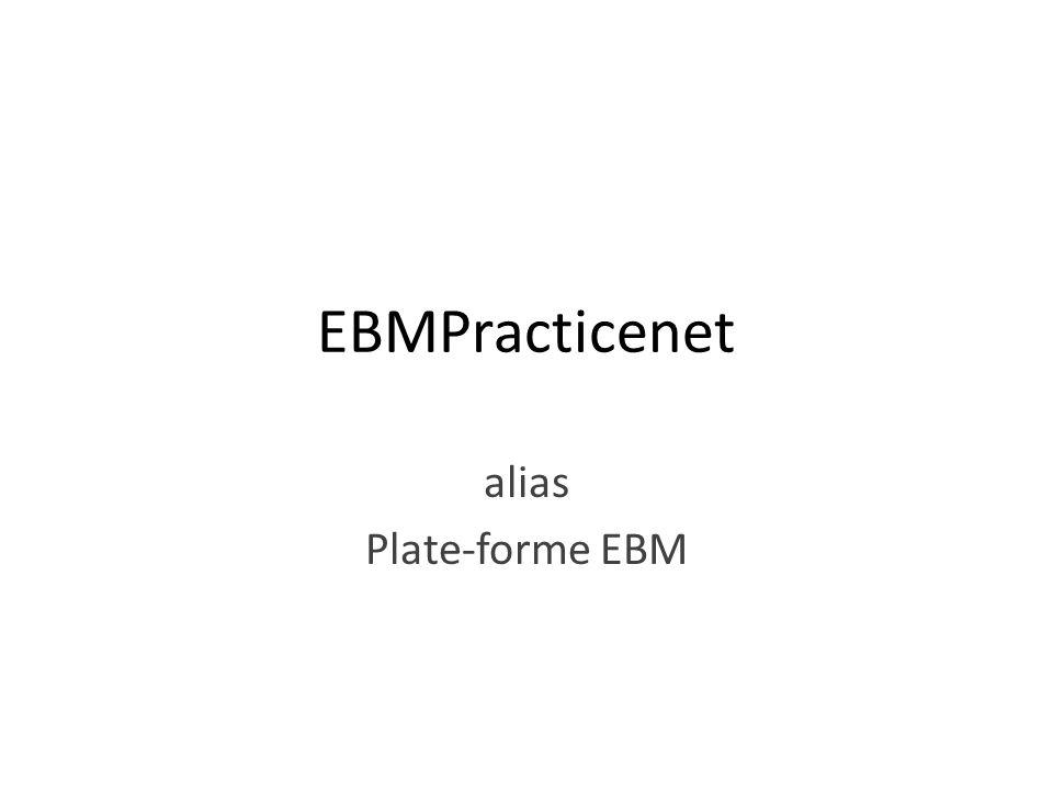 EBMPracticenet alias Plate-forme EBM