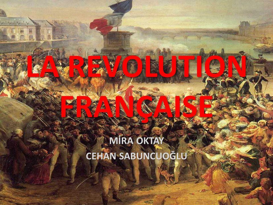 LA REVOLUTION FRANÇAISE MİRA OKTAY CEHAN SABUNCUOĞLU