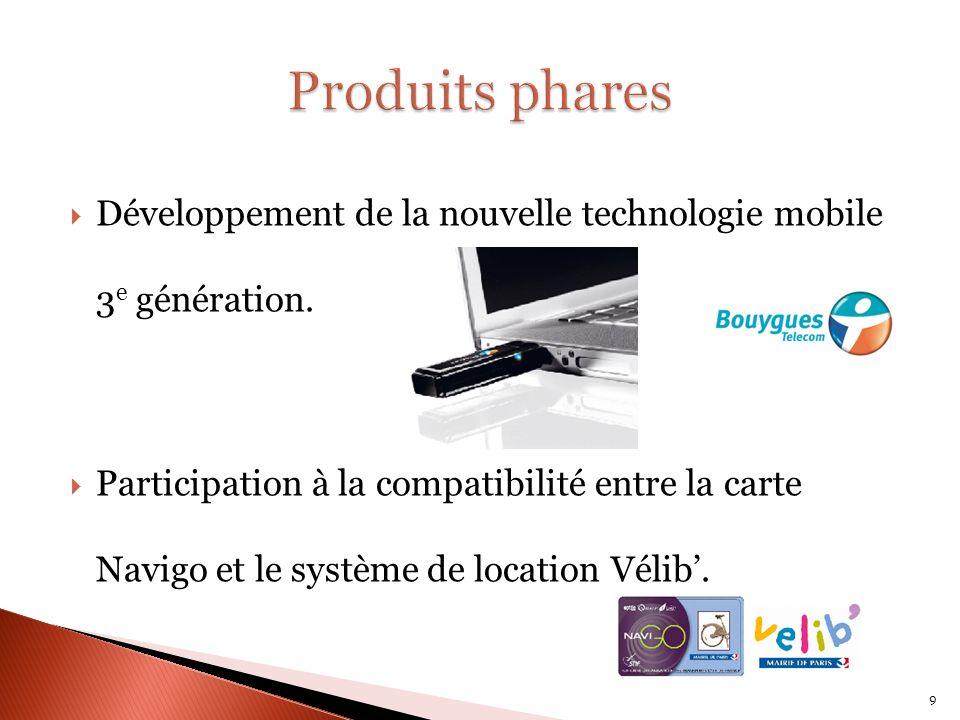 Développement de la nouvelle technologie mobile 3 e génération.
