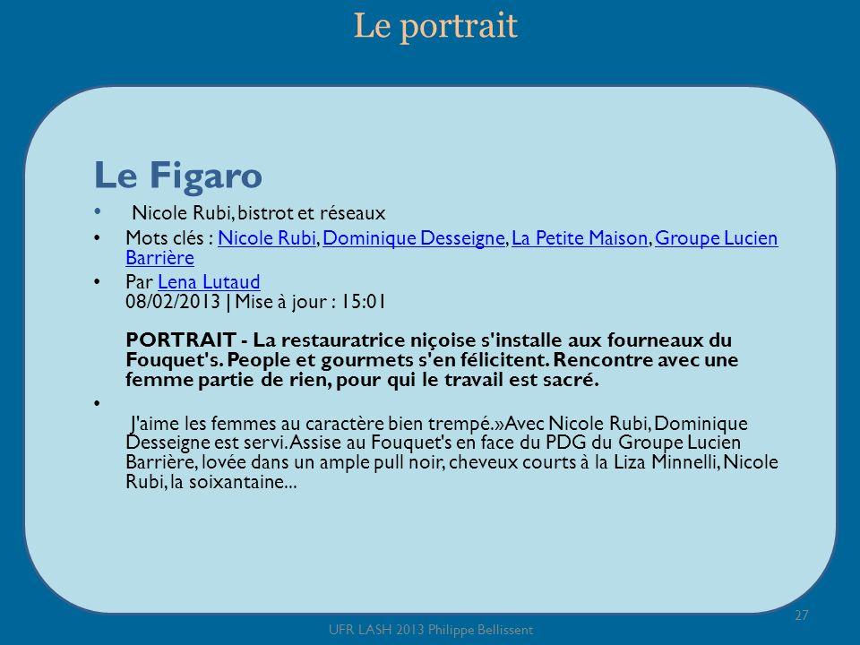 Le portrait Le Figaro Nicole Rubi, bistrot et réseaux Mots clés : Nicole Rubi, Dominique Desseigne, La Petite Maison, Groupe Lucien BarrièreNicole Rub