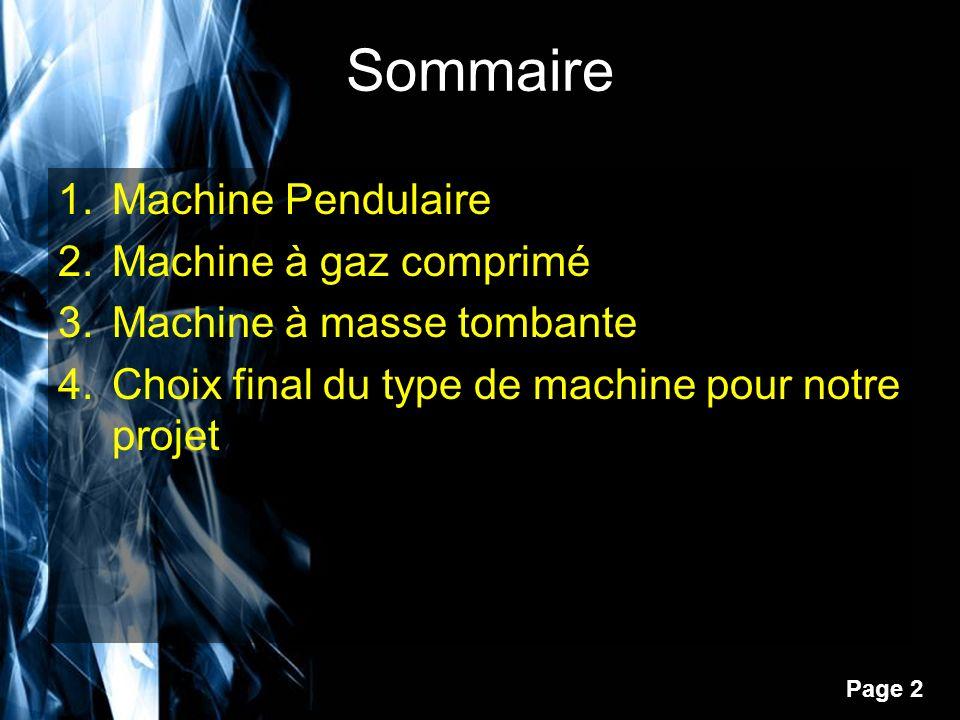 Page 3 Machine Pendulaire Ce sont les machines le plus courantes.