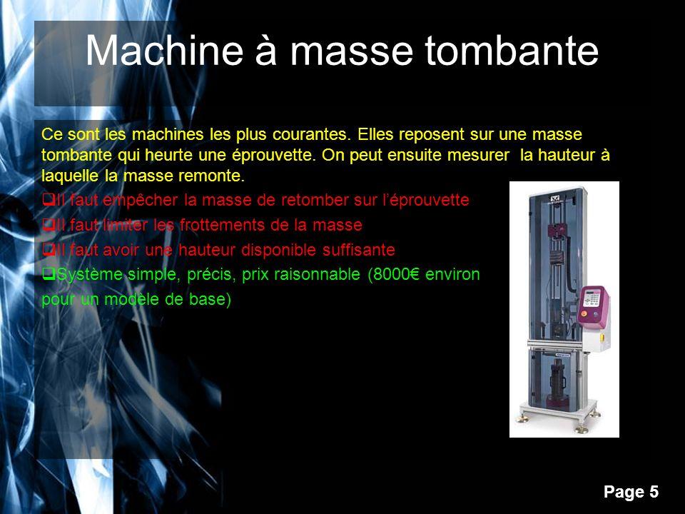 Page 6 Choix final du type de machine pour notre projet Les machines pendulaires et les machines à gaz comprimé prennent une certaine place.