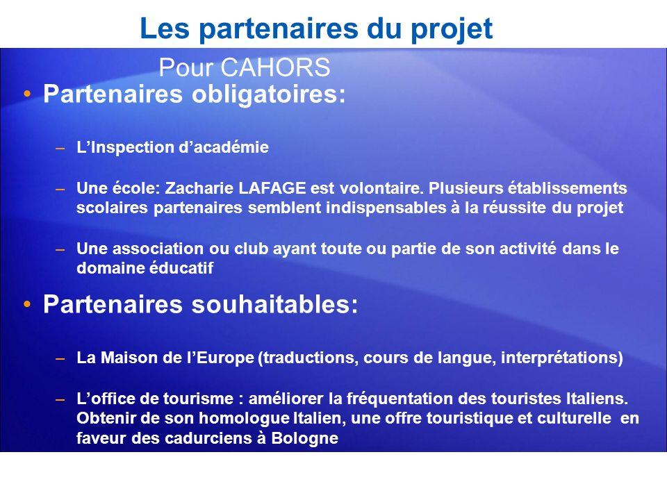 Les partenaires du projet Partenaires obligatoires: –LInspection dacadémie –Une école: Zacharie LAFAGE est volontaire. Plusieurs établissements scolai
